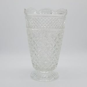 Vintage large cut glass Wexford Pattern Vase heavy